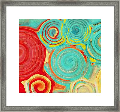 Running In Circles Framed Print by Bonnie Bruno