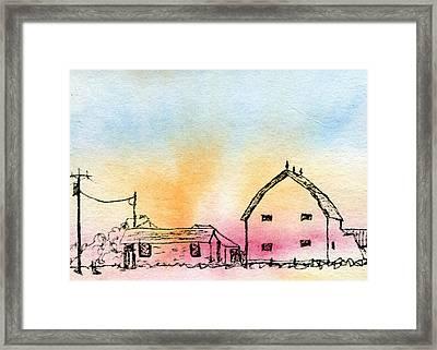 Rural Nostalgia Framed Print by R Kyllo