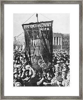 Russia: Revolution Of 1917 Framed Print by Granger
