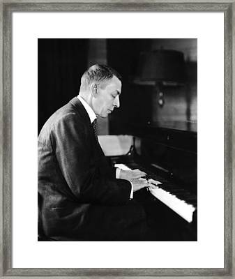 Russian Composer And Pianist Sergei Framed Print