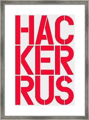 Russian Hacker Framed Print