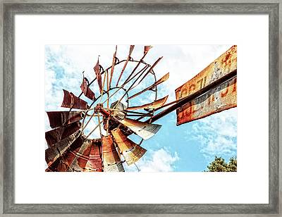 Rusted Windmill Framed Print
