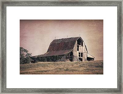 Rustic Barn Framed Print by Tom Mc Nemar