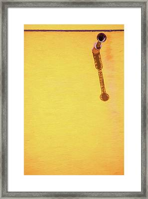 Rustic Water Drain Pipes Framed Print by David Letts