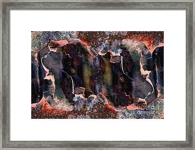 Rusty Iron Framed Print