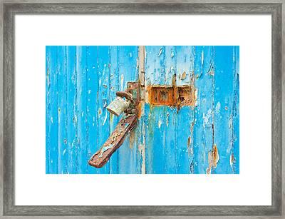 Rusty Lock Framed Print by Tom Gowanlock