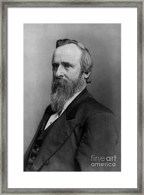 Rutherford B. Hayes, 19th U.s. President Framed Print