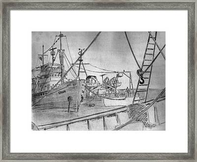 Rv Chain And Uscgss Whiting Framed Print