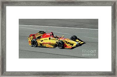 Ryan Hunter Reay Indycar Framed Print by Steve Gass
