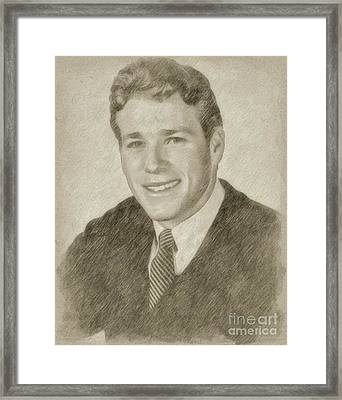 Ryan O'neil Hollywood Actor Framed Print