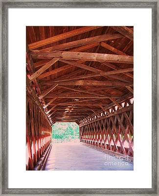 Sachs Bridge Framed Print by Eric  Schiabor