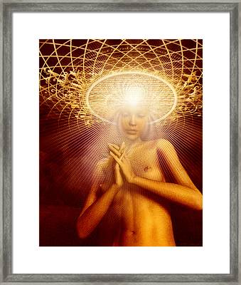 Sacred Contract Framed Print by Robby Donaghey