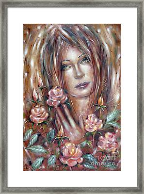 Sad Venus In A Rose Garden 060609 Framed Print