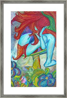 Framed Print featuring the mixed media Sadness by Sarah Crumpler