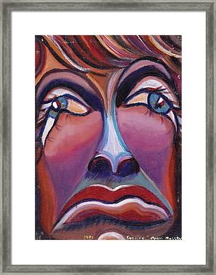 Sadness Framed Print by Suzanne  Marie Leclair