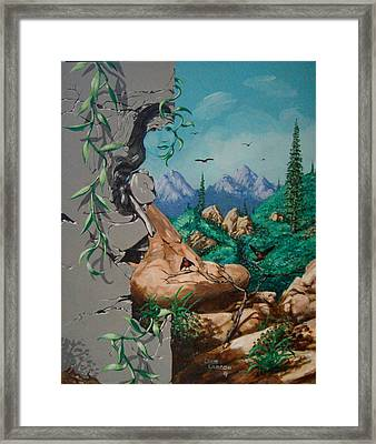 Safitri Framed Print by David  Larcom