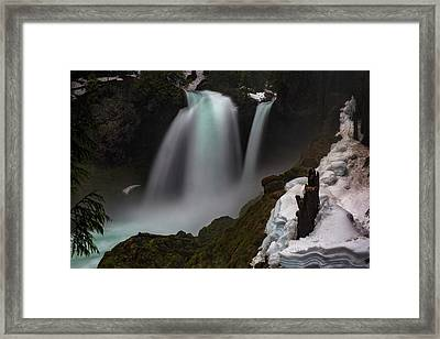 Framed Print featuring the photograph Sahalie Falls by Cat Connor