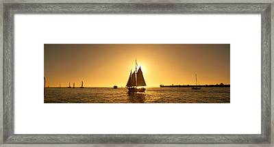 Sailboat, Key West, Florida, Usa Framed Print by Panoramic Images