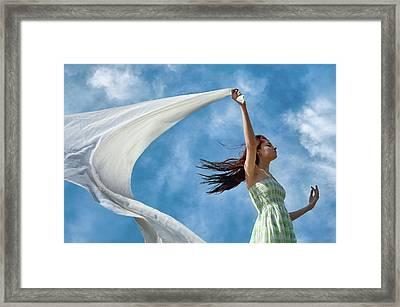 Sailing A Favorable Wind Framed Print