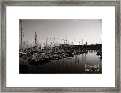 Sailing Boats Barcelona Framed Print by Louise Fahy