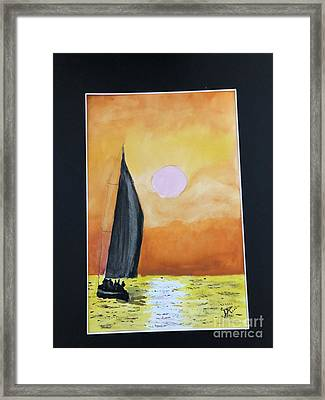 Framed Print featuring the painting Sailing by Donald Paczynski