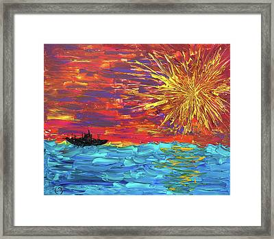 Sailing From The Sun Framed Print by Erik Tanghe