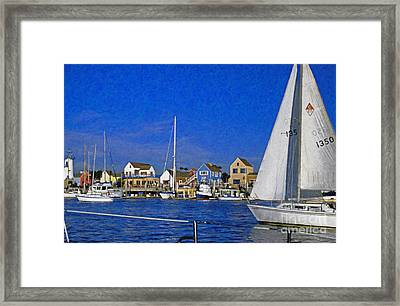 Framed Print featuring the photograph Sailing Marina Del Rey Fisherman's Village by David Zanzinger