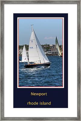 Sailing Newport Framed Print by Tom Prendergast