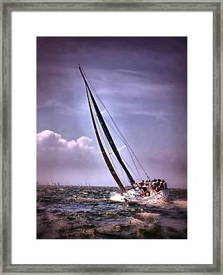 Sailing To Nantucket 003 Framed Print