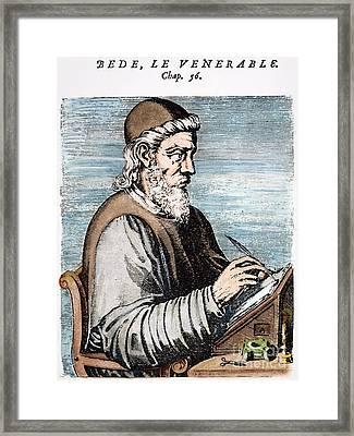 Saint Bede (c672-735) Framed Print