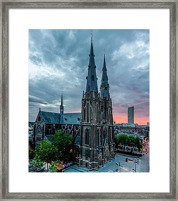 Saint Catherina Church In Eindhoven Framed Print