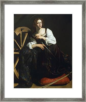 Saint Catherine Of Alexandria Framed Print by Caravaggio