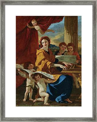 Saint Cecilia Framed Print by Nicolas Poussin