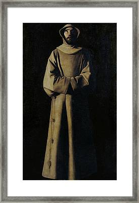 Saint Francis Of Assisi According To Pope Nicholas V's Vision Framed Print