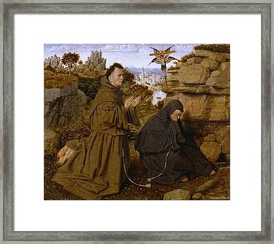 Saint Francis Of Assisi Receiving The Stigmata Framed Print by Celestial Images
