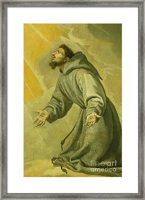 Saint Francis Receiving The Stigmata Framed Print