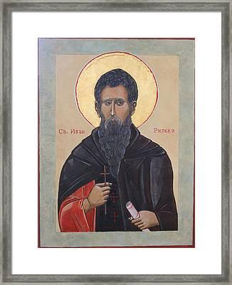 Saint Ivan Rilski Framed Print by Phillip Schwartz