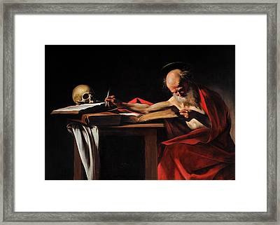 Saint Jerome Writing Framed Print