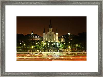 Saint Louis Cathedral In New Orleans Framed Print
