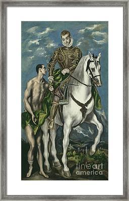 Saint Martin And The Beggar Framed Print