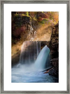 Saint Mary Falls // Glacier National Park  Framed Print