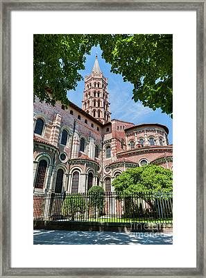 Saint Sernin Basilica Framed Print by Elena Elisseeva