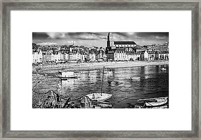 Framed Print featuring the photograph Saint Servan Anse by Elf Evans