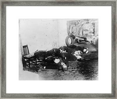 Saint Valentines Day Massacre. Seven Framed Print by Everett