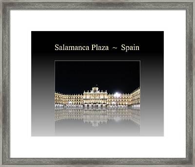 Salamanca Plaza Spain Framed Print