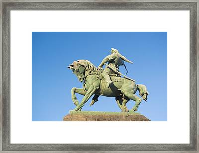 Framed Print featuring the photograph Salavat Yulaev Ufa Russian Hero by John Williams