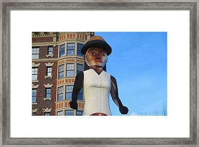 Salish Woman Framed Print