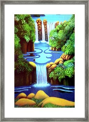 Saltwater Falls Framed Print by Barbara Stirrup