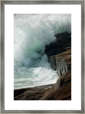 Salty Froth Framed Print