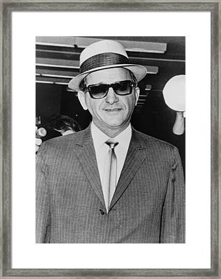 Sammy Giancana 1908-1975, American Framed Print by Everett